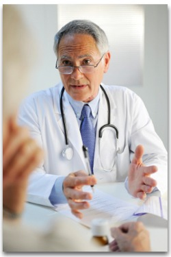 Oncology Doctor talking with patient